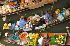 Floating markets in Damnoen Saduak, Thailand Royalty Free Stock Images