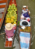 Floating markets in Damnoen Saduak, Thailand Stock Photos