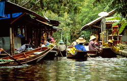 Floating markets of Damnoen Saduak Stock Image