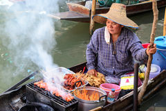 Floating markets in Damnoen Saduak, Thailand Royalty Free Stock Image