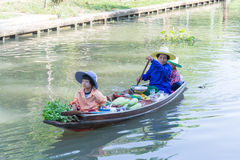 Floating markets in Damnoen Saduak, Thailand Royalty Free Stock Photography
