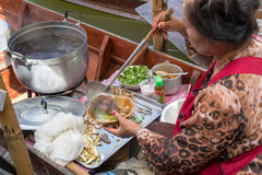 Floating markets in Damnoen Saduak, Thailand Royalty Free Stock Images