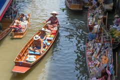 Floating markets in Damnoen Saduak, Thailand Stock Images