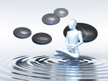 Floating Meditation Royalty Free Stock Photo