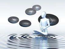 Floating Meditation vector illustration