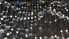 Floating mesh of network abstract 3D render illustration stock image