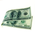 Floating money Royalty Free Stock Images