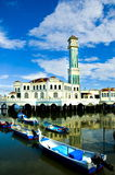 Floating Mosque. A floating Mosque in Malaysia Royalty Free Stock Image
