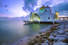 Floating Mosque Stock Photography