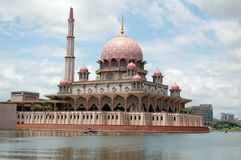 Floating Mosque 4. The floating mosque in Putrajaya Malaysia. The design of the mosque is inspired from iran Stock Photo