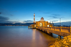 Floating mosque islamic muslim royalty free stock images