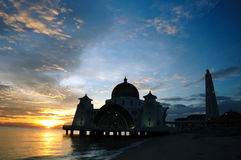 Floating Mosque of Malacca Straits Royalty Free Stock Image