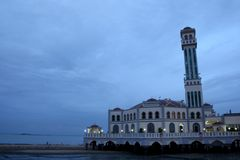 Floating Mosque Of Penang. This photo was taken in Penang, Tanjung Bungah. Its floating mosque Royalty Free Stock Images