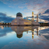 Floating Mosque Reflection Stock Photos
