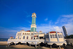 Floating Mosque. Of Tanjung Bungah, Malaysia Royalty Free Stock Photography