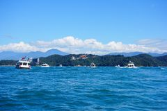 Floating. The most popular destinations are Taipei and the Sun and Moon Lake Stock Photo