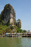 Floating Muslim village in Ko Phang nga Stock Photo