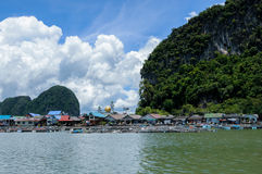 Floating Muslim Village Koh Panyee Island Royalty Free Stock Images