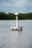 Floating navigational buoy on sea Royalty Free Stock Photography
