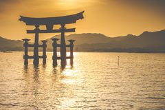 The Floating Otorii gate   Royalty Free Stock Photo
