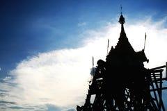 Floating pagoda. At sangkhlaburi (unseen thailand Royalty Free Stock Image