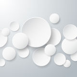 Floating Paper Circles Background Royalty Free Stock Image