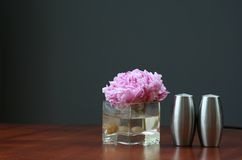 Floating Peony and salt and p Royalty Free Stock Image