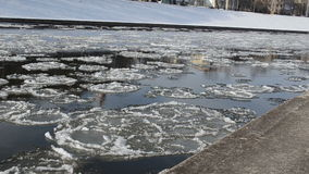 Floating pieces of ice stock video footage
