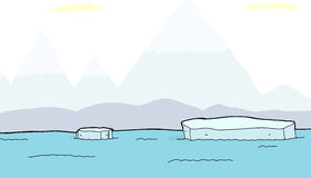 Floating Pieces of Iceberg Royalty Free Stock Images