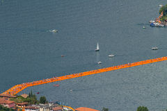 The floating piers, Christo, Iseo lake Royalty Free Stock Photo