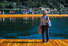 The Floating Piers Stock Photo