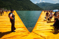 Floating Piers security monitor Stock Photography