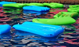 Floating plastic boards Royalty Free Stock Image