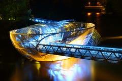 Floating platform. Artificial floating platform in Graz Austria Royalty Free Stock Image