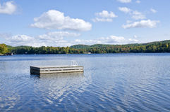 Floating Platform on a Lake #2 Stock Photo