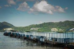 Floating platform at patong pier, phuket Royalty Free Stock Photo