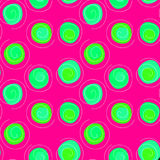 Floating poison circles seamless pattern background Royalty Free Stock Image