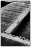 Floating Pontoon at 90 Degrees Stock Photography