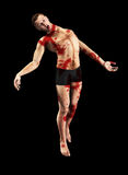Floating Possessed Man. Possessed man who is floating whilst covered in Blood Stock Photos