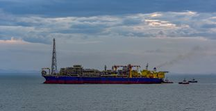 Floating production, storage and offloading (FPSO) vessel stock image