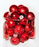 Floating red ball ornaments Stock Image