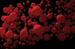 Floating red bubbles Royalty Free Stock Photos