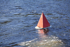Floating red buoy Royalty Free Stock Photo