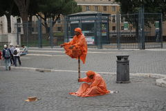 A floating religious man. In Rome, Italy Royalty Free Stock Image