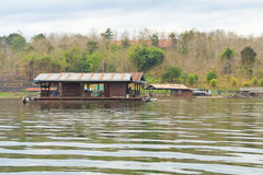 Floating residence at countryside Royalty Free Stock Photos