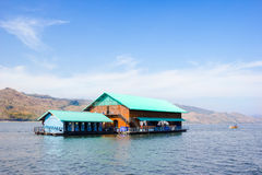 Floating Resort in dam,Thailand Royalty Free Stock Photo