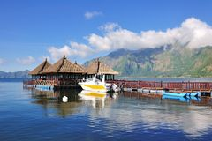 Floating Resort in Kintamani, Bali Stock Image