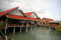 Floating restaurant Royalty Free Stock Images