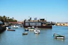 Floating restaurant, El Puerto de Santa Maria. Stock Photos