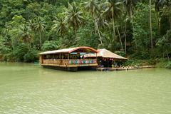 Floating Restaurant on Loboc River (Bohol, Philippines) Royalty Free Stock Images